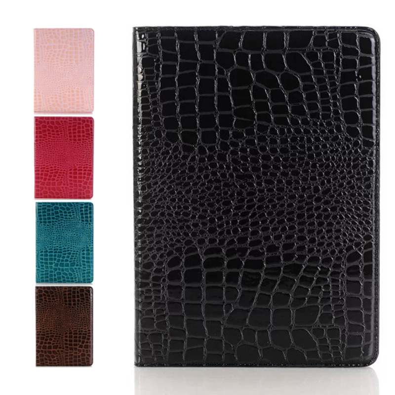 for New IPad Pro 9.7 Fashion Crocodile PU Leather Cover Include Back Case Stand Full Bod ...