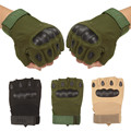 Fashion Outdoor Sports Motorcycle Gloves Unisex Guantes Half Finger Green Black Khaki Breathable Protective Glove