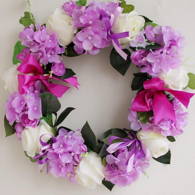 Purple Hydrangea Flower Simulation Suits, Flowers, Floral, Living Room  Decorative Wreaths, Door Trim, Door Hanging Wedding Arran