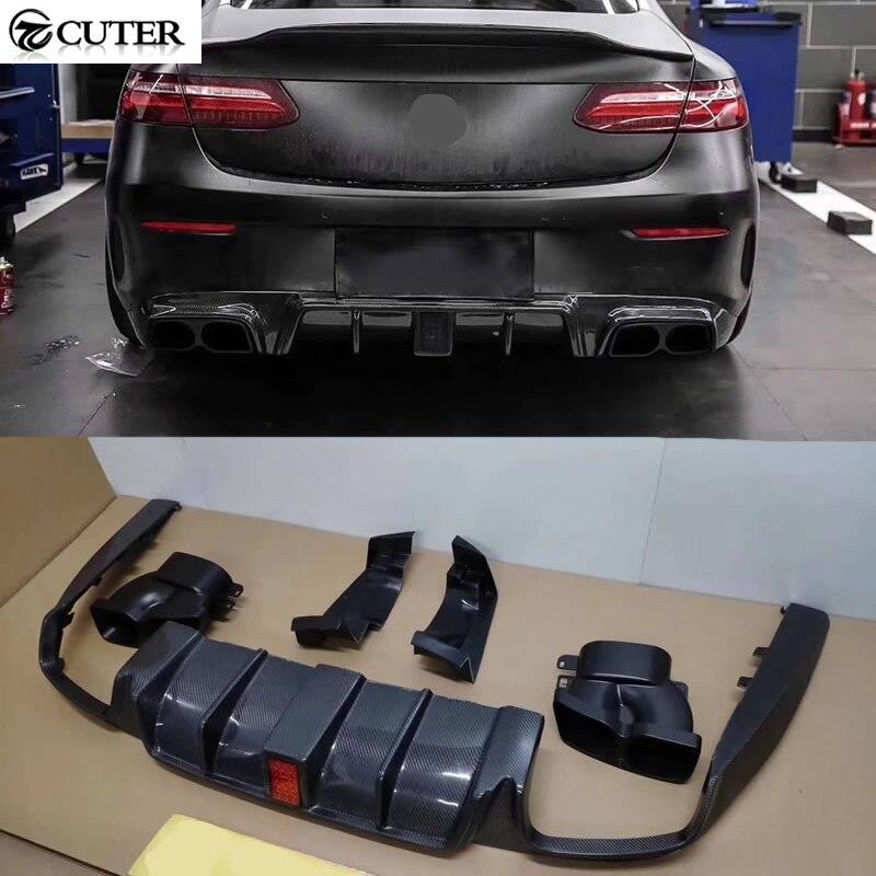 W238 E CUPÊ difusor traseiro em fibra de carbono com tubo de escape de aço Inoxidável luzes LED para Mercedes Benz W238 E300 2018