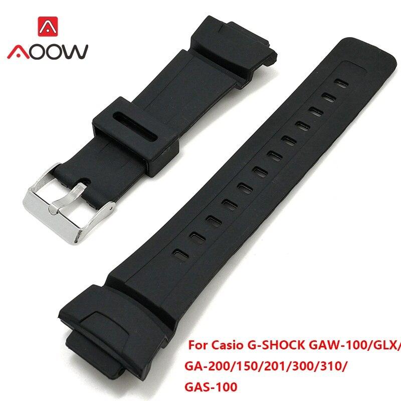 aa58795870da Palabras como ésa correa de silicona para Casio G Shock recambio banda  Correa accesorios de GAW-100 GLX GA-200 150  201 300 310 GAS-100