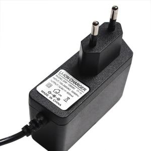 Image 2 - Cargador de batería de litio con enchufe europeo, 12,6 V, 1A, 12,6 V, Cargador/adaptador de corriente con cable de plomo, DC 5,5*2,1 MM