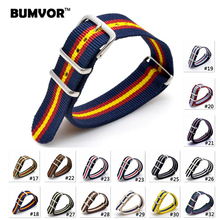 Fashion New 2018 Army Military Nato Nylon Watch 22 mm Orange fabric Woven watchbands Strap Band Buckle belt 22mm accessories 2018 watch 22 mm bracelet multicolor black yellow army military nato fabric woven nylon watchbands strap band buckle belt 22mm