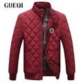 GUEQI Men Fashion Warm Jackets Plus Size L-3XL Stand Collar ADD Fleece Coats 2017 New Model Man Casual Winter Outerwear