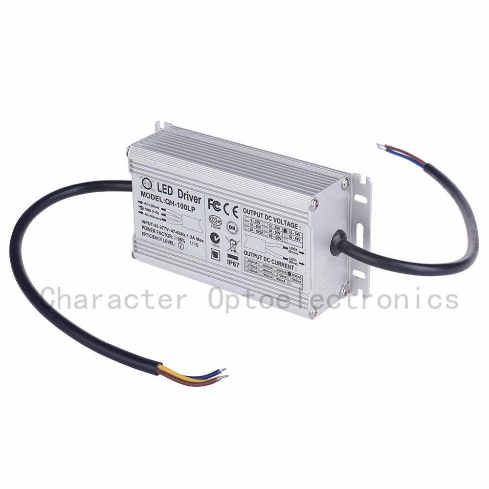 5 pièces D'isolement 100 W AC85-277V LED Conducteur 6-10x10 3A DC18-34V IP67 Étanche Courant Constant Pour Des Projecteurs