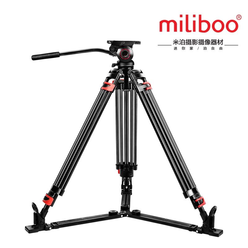miliboo Iron Tower MTT609A Aluminum professional video camcorder font b Tripod b font VS manfrotto font