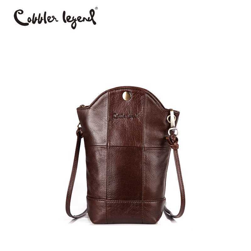 Cobbler Legend designer bag Small Bucket Phone Handbag For Women Genuine Leather Bag Female Mini Messenger Crossbody Bag Buy cobbler legend luxury handbags women bags designer small genuine leather shoulder crossbody bag mini zipper female designer bag
