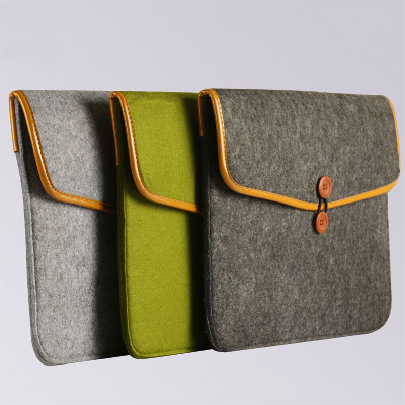 Felt <font><b>Sleeve</b></font> <font><b>Laptop</b></font> Case Cover Bag for Apple MacBook Air Pro 11inch/ 12inch/ <font><b>13inch</b></font>/ 15inch XJ66 image