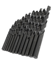 Uxcell New Arrival 13 in 1 Set Electric Tools 1.5mm to 6.5mm HSS Straight Shank Twist Drill Bit Iron Drilling Hardware Black