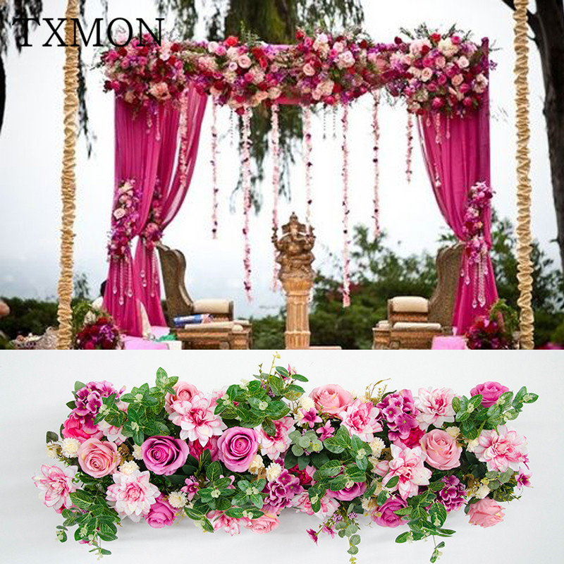 European-style artificial flower arrangement wedding decoration props wedding stage road lead arches fake flower arrangementEuropean-style artificial flower arrangement wedding decoration props wedding stage road lead arches fake flower arrangement