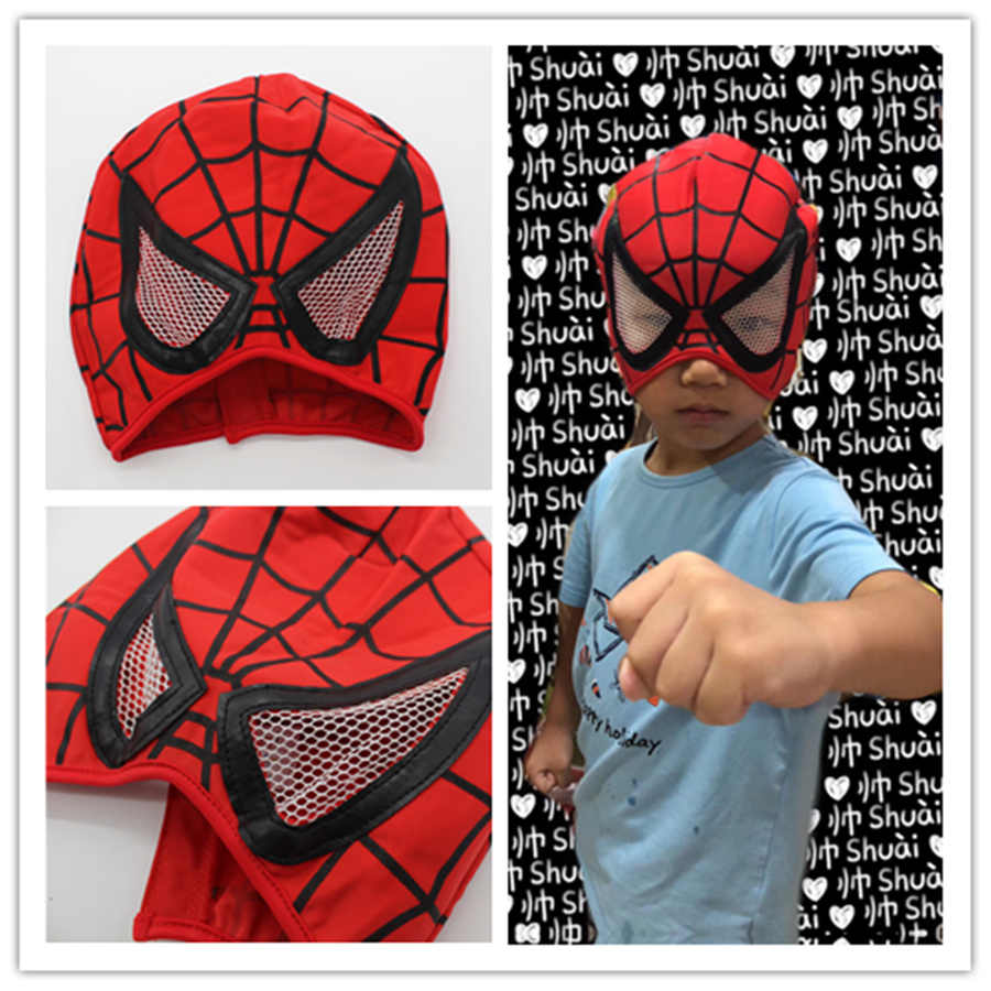 36e4f614d5024a 1pcs 20cm Spider man cosplay plush hat Stuffed Plush Toys Spiderman fancy  gift for kids