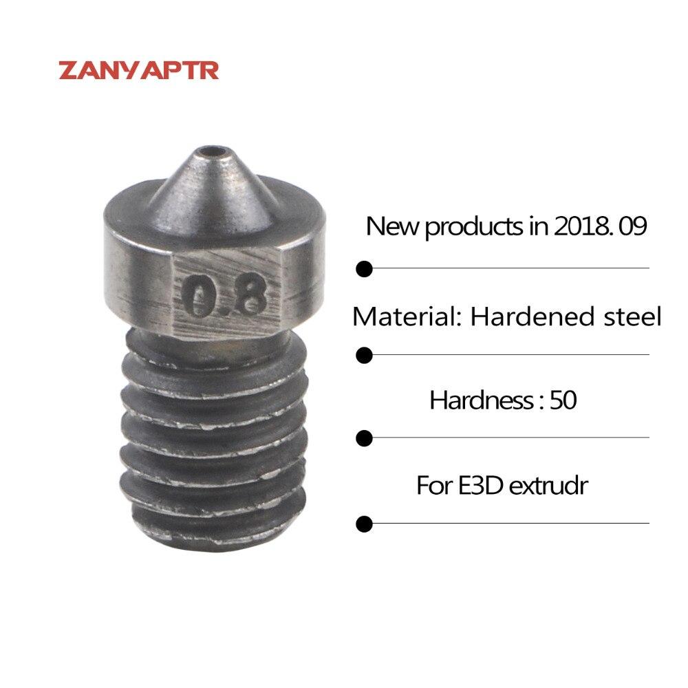 1Pcs 3D Printer Parts Hardened Steel Die Steel Nozzle J-Head Extruder For 0.4/0.6/0.8/1.0/1.2/1.5mm for 1.75mm For 3D V6 & V5 die steel feeding extrusion wheel for 3d printer black
