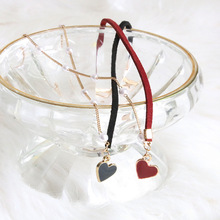 Beating heart red and black love necklace collarbone chain super fairy pearl beautiful versatile choker