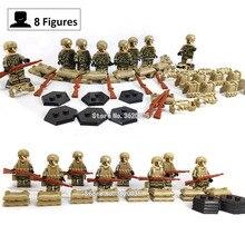 Montanha 8 pcs compatível legoinglys Militar das forças Especiais Montar Blocos de Construção figuras modelo de armas de brinquedo para presente das crianças