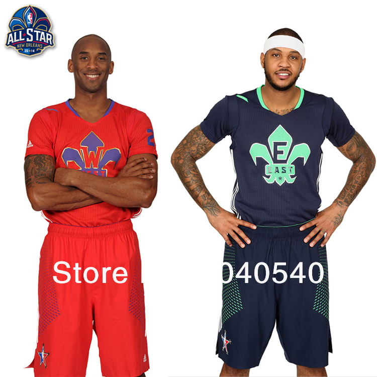 2c4fe7a2afa2 Free shipping 2014 basketball jersey short sleeve dress suit Wade Bryant  east west Numbers can be printed 0001