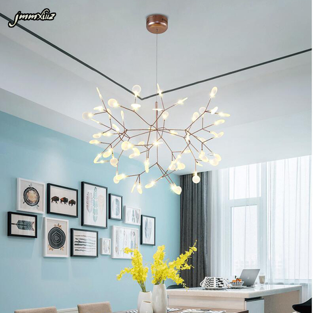 Post modern branches leaf restaurant chandelier bedroom diffuse ...