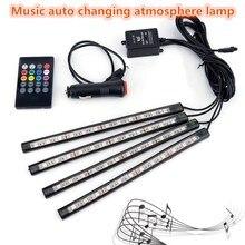 купить XUNMA Car  LED Strip Light 4pcs LED Strip Lights 16 Colors  Styling Decorative Atmosphere Lamps Car Interior Light With Remote дешево