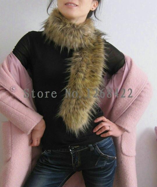 bb8d987ab82 Free shipping winter scarf 2015 women fur collar scarves fox fur collar  scarf Imitation raccoon shawl