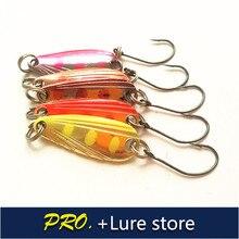 Free shipping 10pcs 2.8g fishing metal spoon baits metal spinner lure trout spoon mini bait wobbler artificial spoon