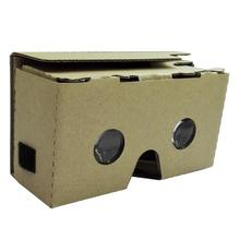 Cardboard + Resin Lens Highest Quality New For Google Cardboard V2 3D Glasses VR Valencia Quality Max Fit 6Inch Phone