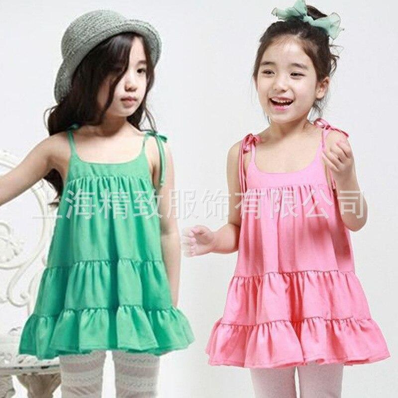 <font><b>2016</b></font> Vestidos New Girl Dress Vestido <font><b>Hot</b></font> Selling Girls Suspender Dresses Wholesale Summer <font><b>2</b></font> <font><b>Colors</b></font> <font><b>In</b></font> <font><b>Stock</b></font> Fast 0