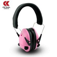 CK Tech Women Electronic Protection Ear Muffs For Noise Professional Shooting Brake Hunting Earmuffs Ear Protector Earmuffs 2024