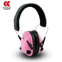 CKTech Women Electronic Protection Ear Muffs For Noise Professional Shooting Brake Hunting Earmuffs Ear Protector Earmuffs 2024F