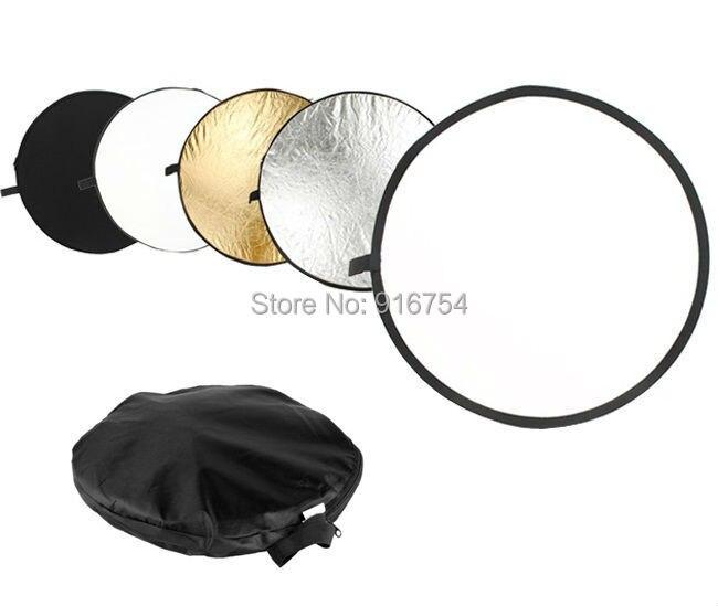 43 pulgadas 5in 1 EasyTake 5 en 1 Reflector, venta al por mayor fotografía foto 43 ''110 cm Reflector plegable Mulit envío gratis