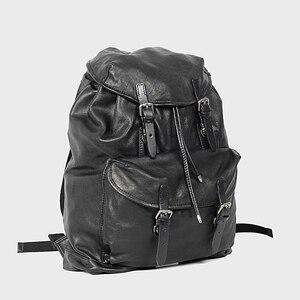 Image 3 - Miękki czarny skórzany męski plecak na laptopa o dużej pojemności Retro męskie plecaki turystyczne wierzchnia warstwa skóry wołowej mężczyzna tornister na co dzień