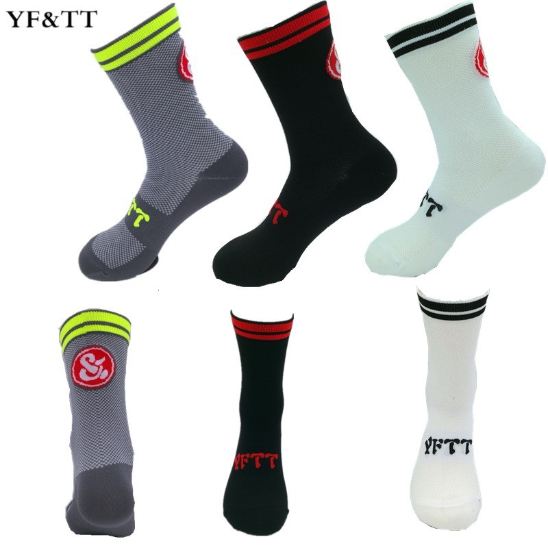 YF&TT High Quality Professional Brand Sport Socks Coolmax Breathable Road Bicycle Socks Outdoor Sports Racing Cycling Socks