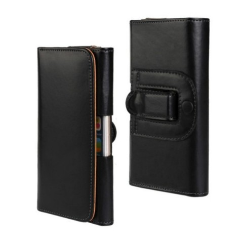 OEEKOI Belt Clip PU Leather Waist Holder Flip Cover Pouch Case for Karbonn Mobiles Titanium S29 Elite/S9 Lite 5.5 Inch Islamabad