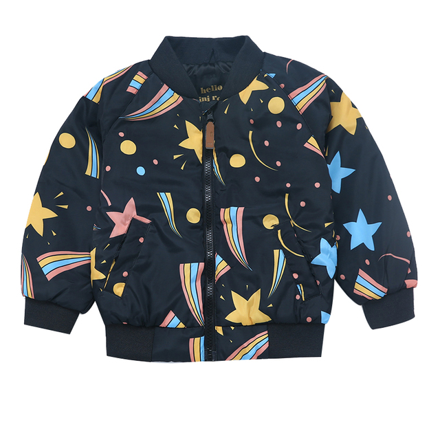2016 Otoño Invierno Bebé Chaqueta de Los Muchachos Estrella Multicolor Geométrica de Algodón Abrigo Para Niños Top Niños ropa de Abrigo Niños Sudaderas ropa