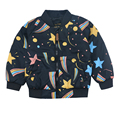 2016 Winter Autumn Baby Boys Jacket Star Multi-Color Geometric Cotton Coat For Boys Top Kids Outerwear Children Hoodies Clothing