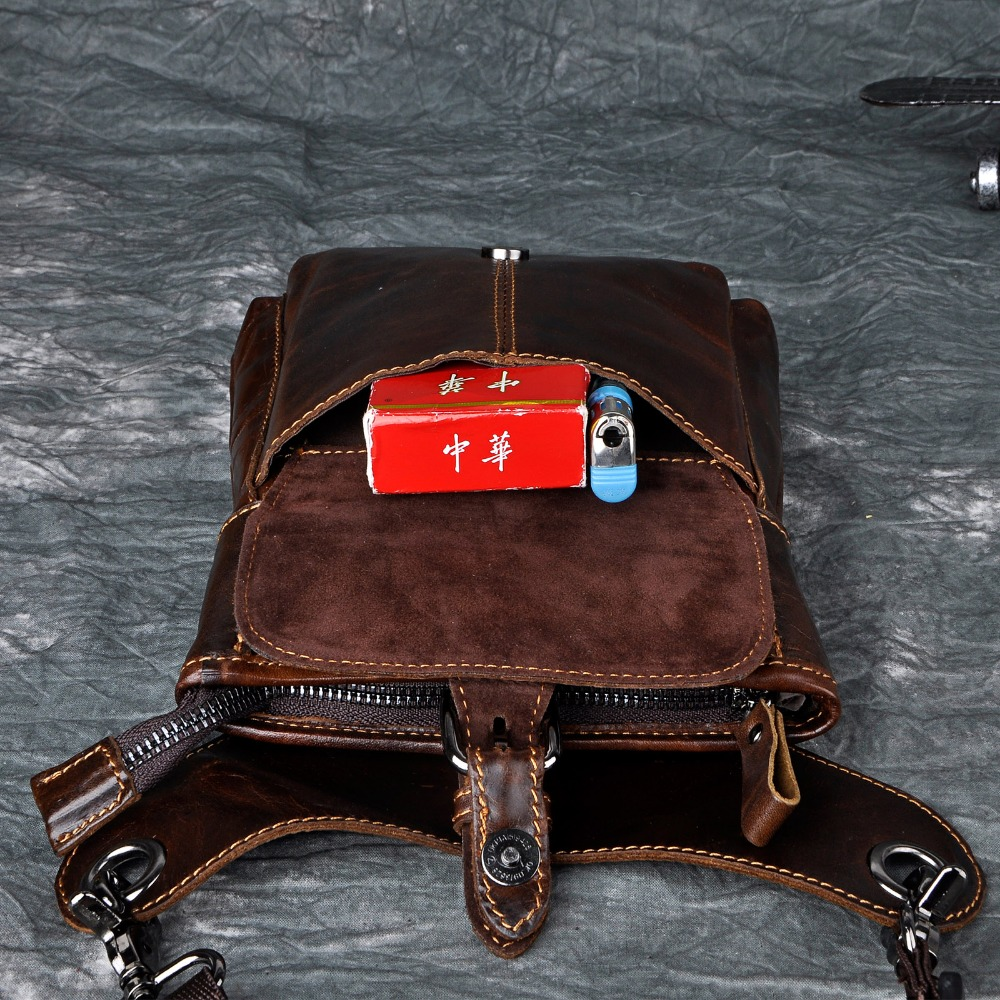 Fine Jewelry Leather Men Design Casual Messenger Shoulder Mochila Bag Fashion Multifunction Waist Belt Pack Drop Leg Bag Tablet Pouch 211-12c