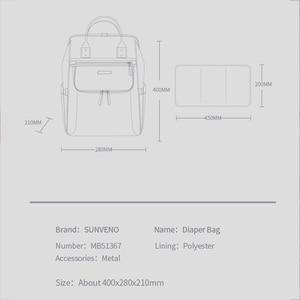 Image 5 - Sunveno sac à couches, sac à couches étanche de grande capacité, à couches pour maman, sac à dos de voyage pour maternité, sacoche à main dallaitement, nouveauté