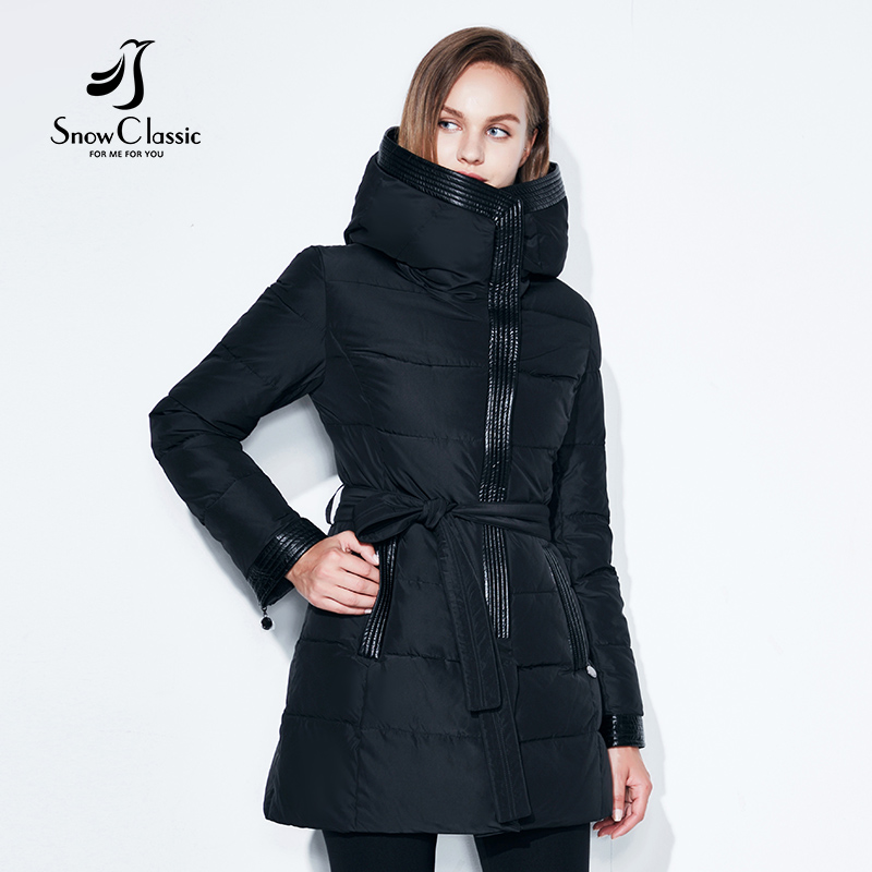 Women Winter Coat Jacket Warm Parkas Female Overcoat Cotton Coat High Quality Adjustable Waist Winter Collection SnowClassic