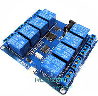 MICRO USB 8 Channel RELAY MODULE 5V 10A Driver Free PC USB Control