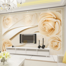 Custom 3D Photo Wallpaper European 3D Non-woven Flower TV Sofa Background Decoration Wall Mural Living Room Bedroom Wallpaper цена 2017
