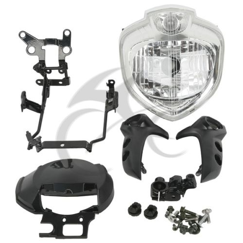 Motorcycle HEADLIGHT SET HEAD LIGHT ASSEMBLY FOR 2004-2006 YAMAHA FZ6 FZ6N 2005 Farol FZ6 motorcycle aluminum cooler radiator for yamaha fz6 fz6n fz6 n fz6s 2006 2007 2008 2009 2010