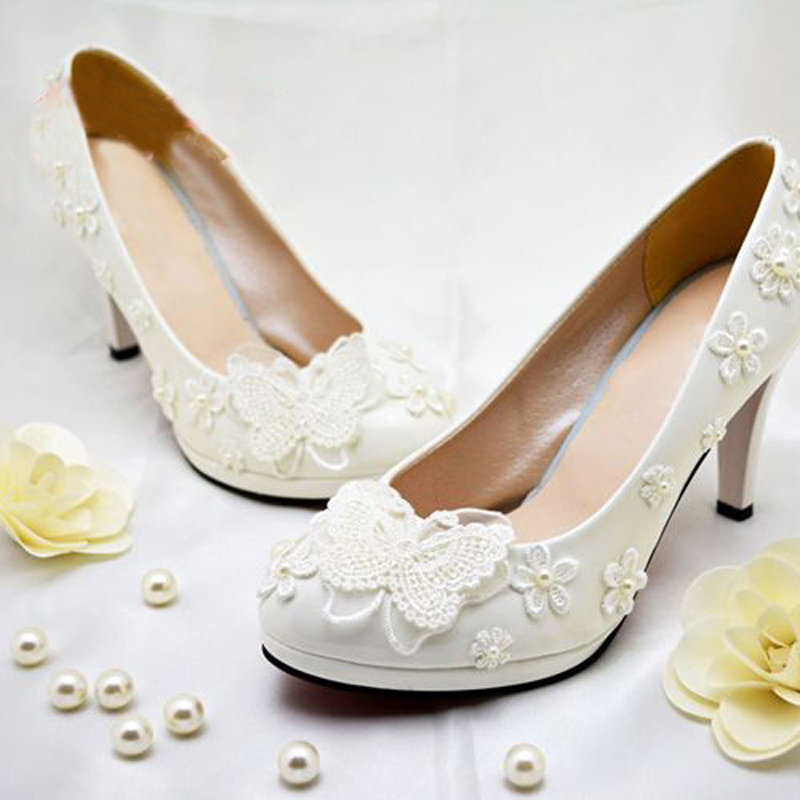Aliexpress Buy Free Shipping Ivory Pearl Bowtie Wedding Bridal Shoes Flower Girl Dress