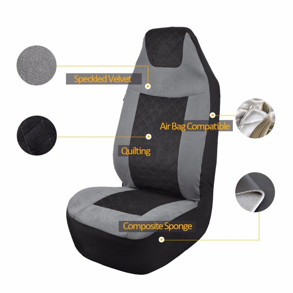 Tela de terciopelo moteado cubierta de asiento de coche Universal - Accesorios de interior de coche - foto 2