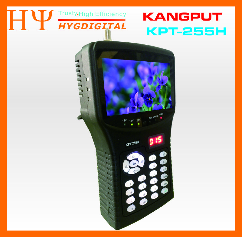 [GenuineKPT-255H sat finder hd remplacer satellite finder KPT-055H moniteur 4.3 pouce DVB-S/S2 signal test avec av usb hd outpu