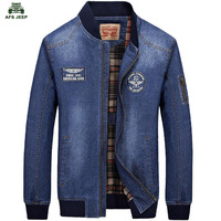 NEW Brand Denim Jeans Jackets 2017 Autumn Winter Men Casual Pockets Clothes Army Jacket Aeronautica Militare