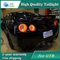Стайлинга автомобилей хвост лампа для Nissan GTR задние фонари светодиодные Фонарь задний светодиодные лампы ДРЛ + Тормозная + Парк + стоп сигнал