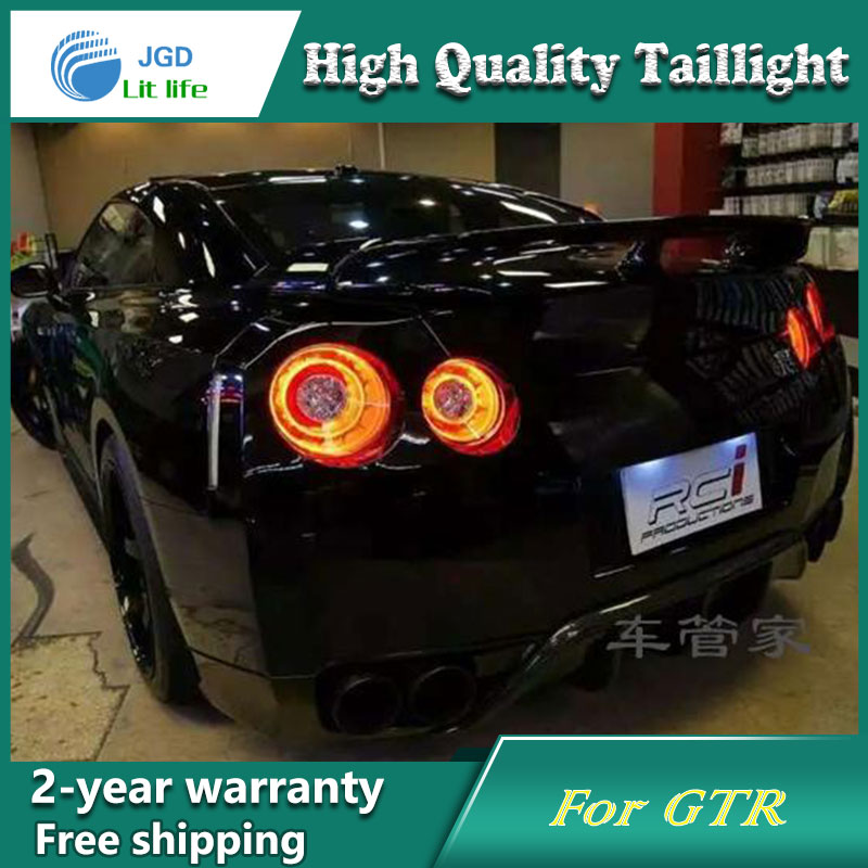 Car Styling Tail Lamp for Nissan GTR Tail Lights LED Tail Light Rear Lamp LED DRL+Brake+Park+Signal Stop Lamp epr car styling for nissan skyline r33 gtr type 2 carbon fiber hood bonnet lip