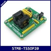 STM8-TSSOP20 STM8L STM8S IC Tomada Teste Adaptador Programador STM8 OTS-20 (28) -0.65-01 para TSSOP20 0.65 milímetros Pitch com SWIM Porto