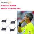 2016 1200 M 4 mismo tiempo Hablar de Árbitros de Fútbol Soccer Coach Árbitro Judger Bluetooth Headset Arbitraje