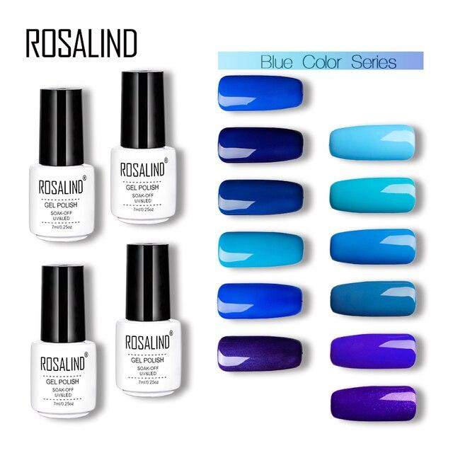 Aliexpress Buy Rosalind Gel 1s Nail Gel Polish 7ml Blue Colors