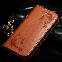 For Samsung Galaxy Note 3 Note 4 Note 5 Case High Quality Fashion Butterfly Flower Design