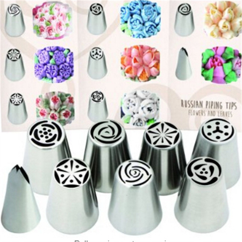 Tangchu 8 Pcs Set Stainless Steel Russian Piping Tips